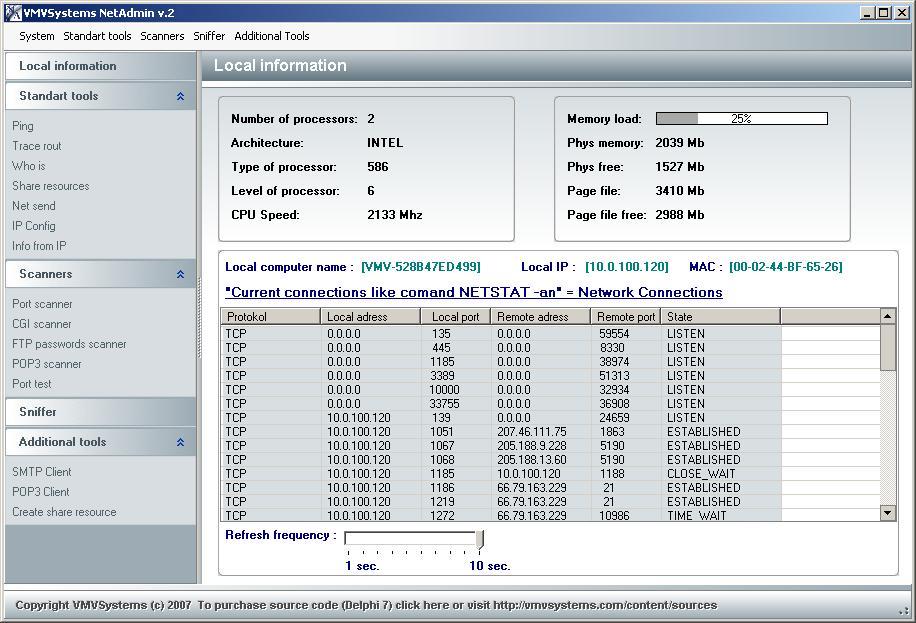 VMVSystems NetAdmin