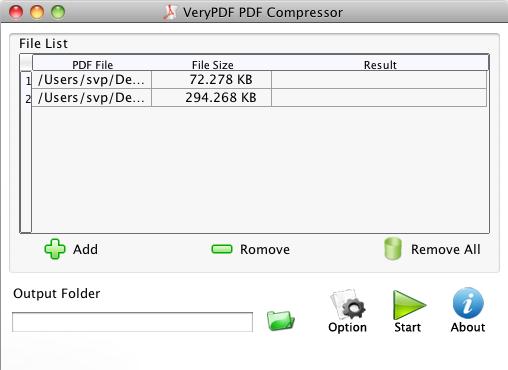 VeryPDF PDF Compressor for Mac