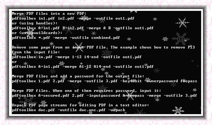 VeryPDF PDF Merger Command Line