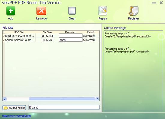 VeryPDF PDF Repair