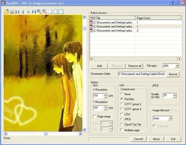 VeryPDF PDF to Image Converter