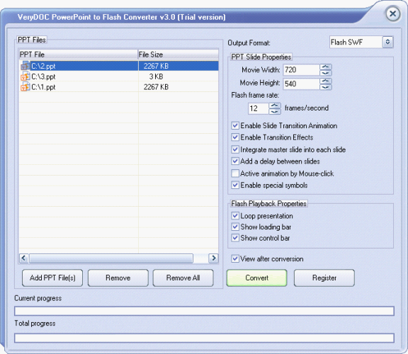 VeryPDF PowerPoint to Flash Converter