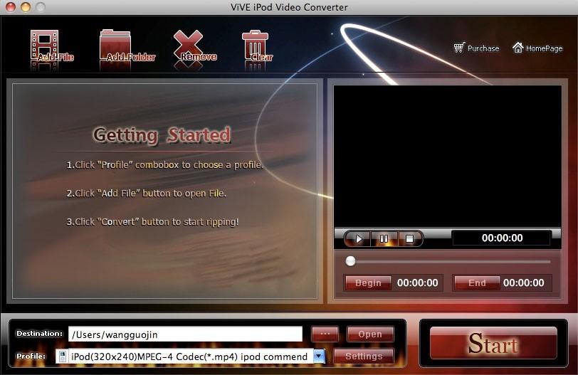 ViVE iPod Video Converter for MAC