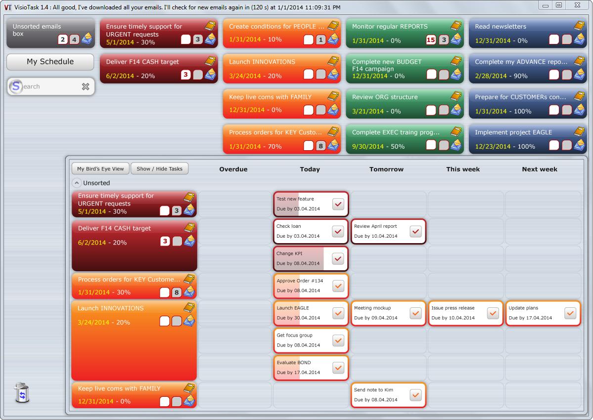VisioTask Free Task Management Software