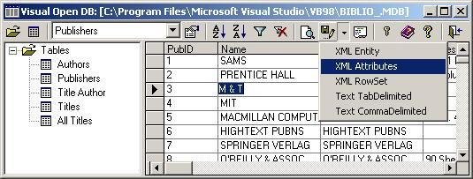 Visual Open DB