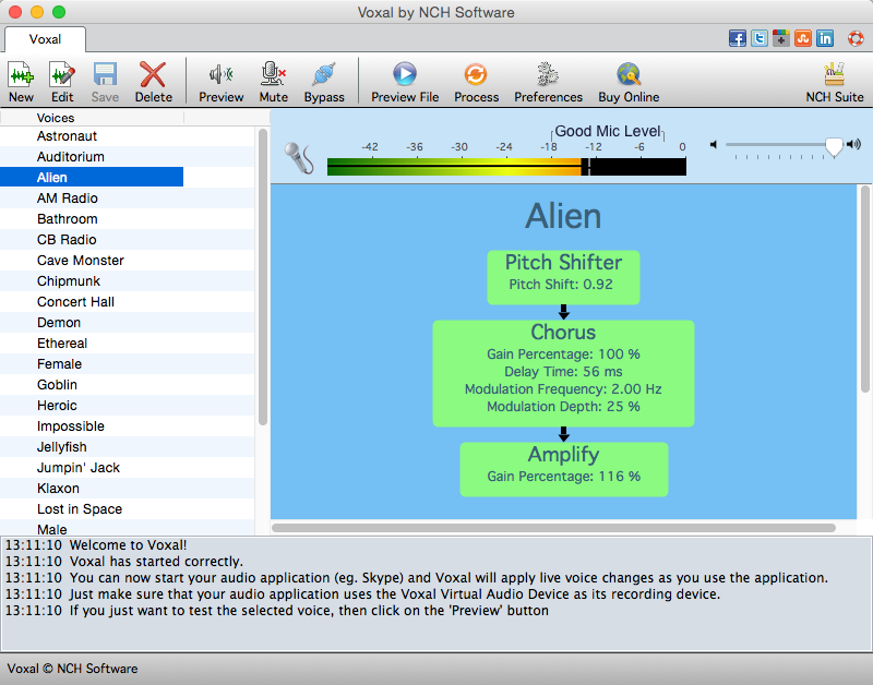 Voxal Plus Edition for Mac