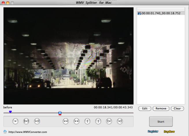 WMV splitter for Mac