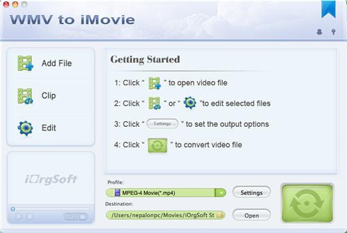 WMV to iMovie Converter for Mac