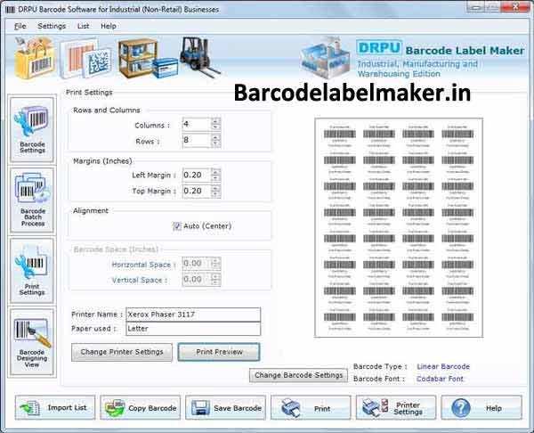 Warehouse Barcode Label Maker