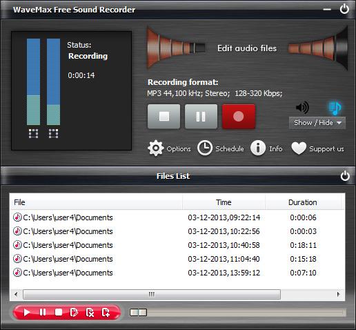 WaveMax Free Sound Recorder