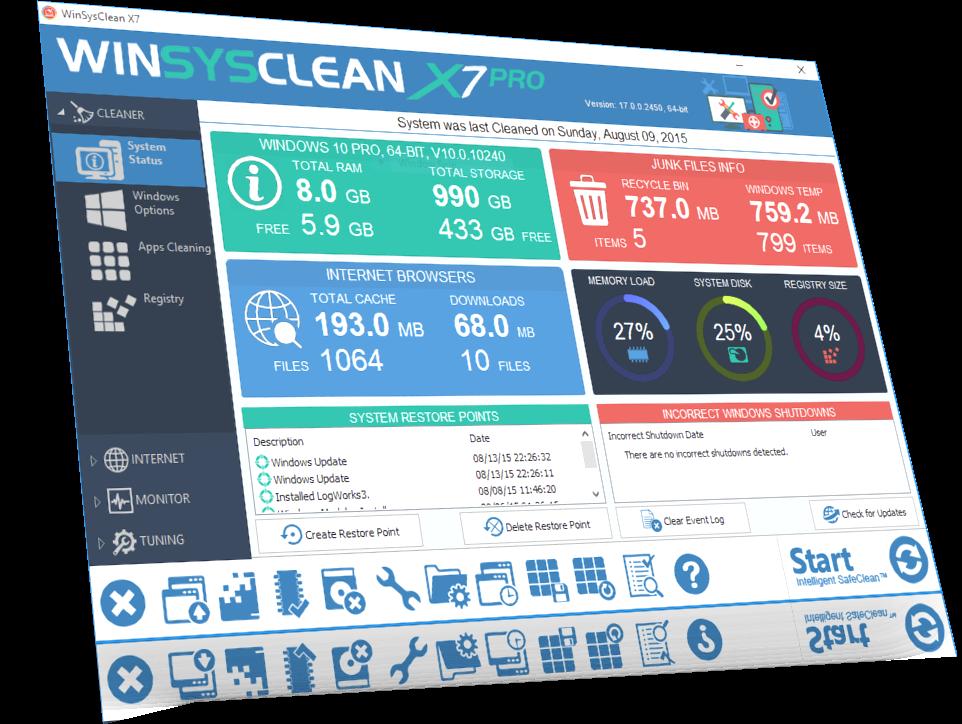 WinSysClean X7 Free