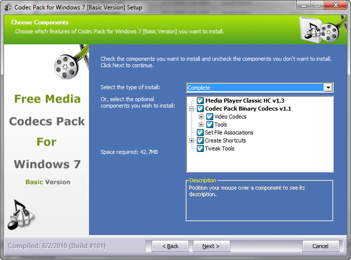 Windows 7 codecs pack basic