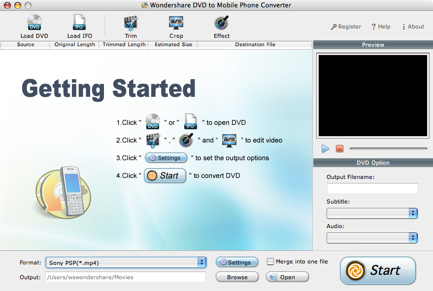 Wondershare DVD to Mobile Phone Converter for Mac