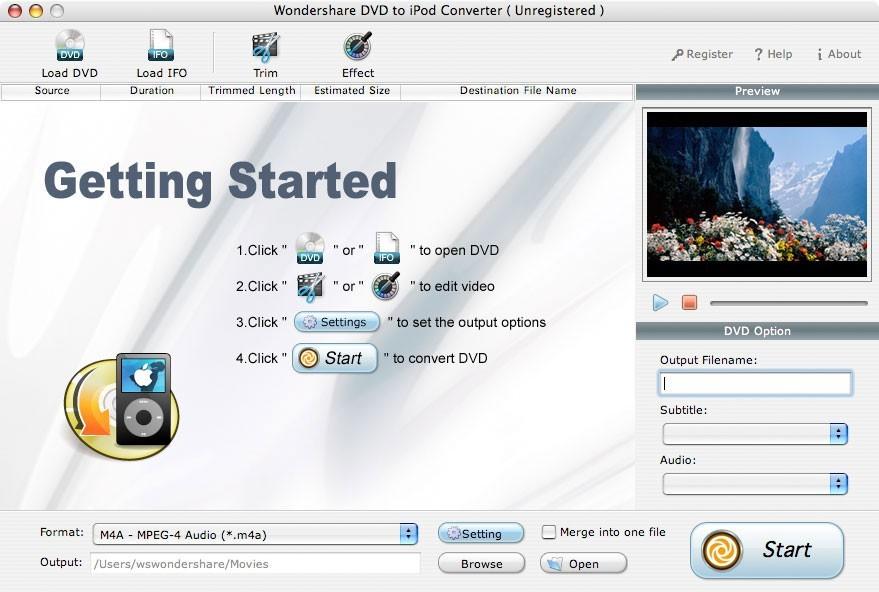 Wondershare DVD to iPod Converter for Mac