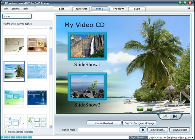 Wondershare MPEG to DVD Burner