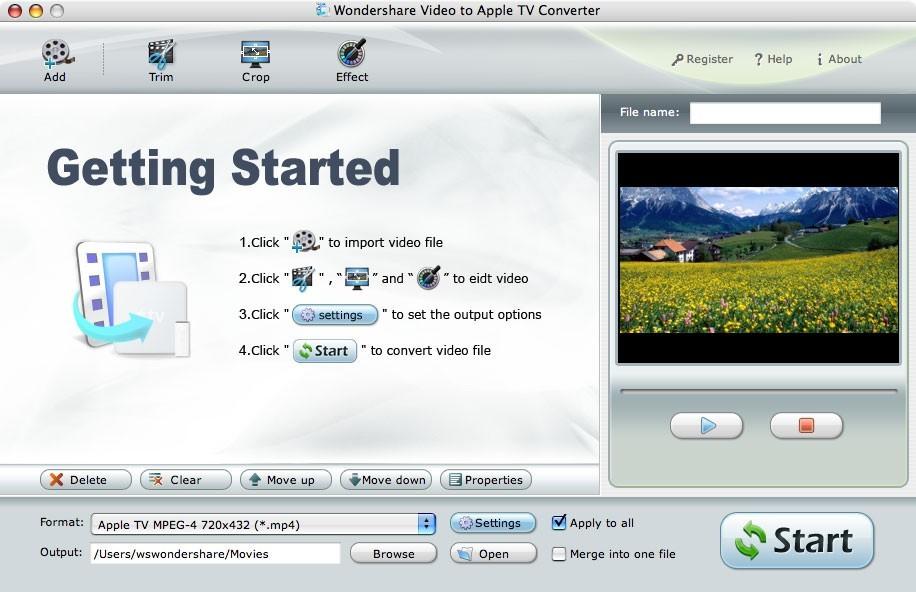 Wondershare Video to Apple TV Converter for Mac