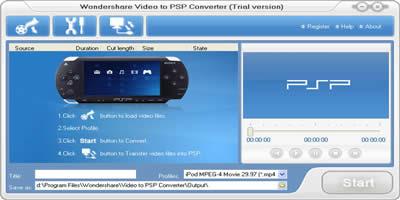 Wondershare Video to PSP Converter