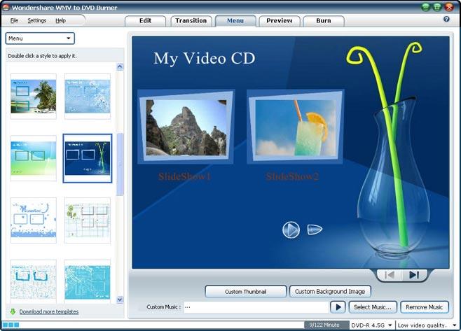Wondershare WMV to DVD Burner