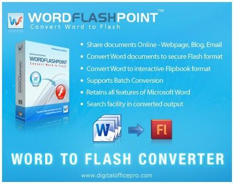 WordFlashPoint - Word to Flash Converter