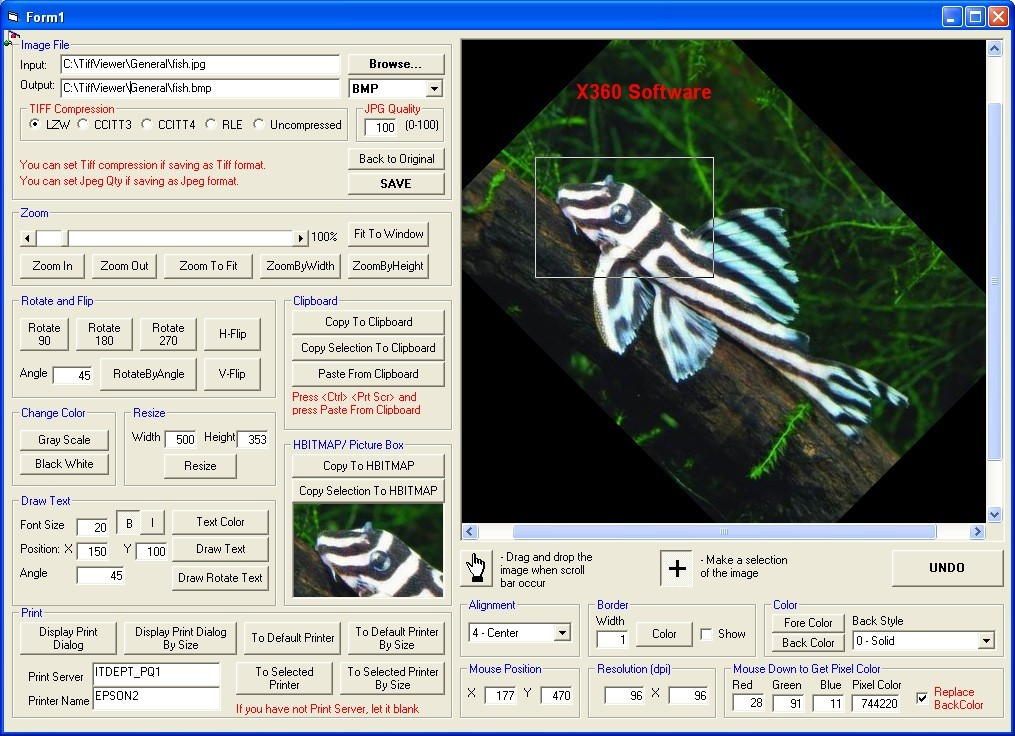 X360 Tiff Image & Fax Viewer ActiveX