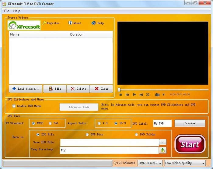 XFreesoft FLV to DVD Creator
