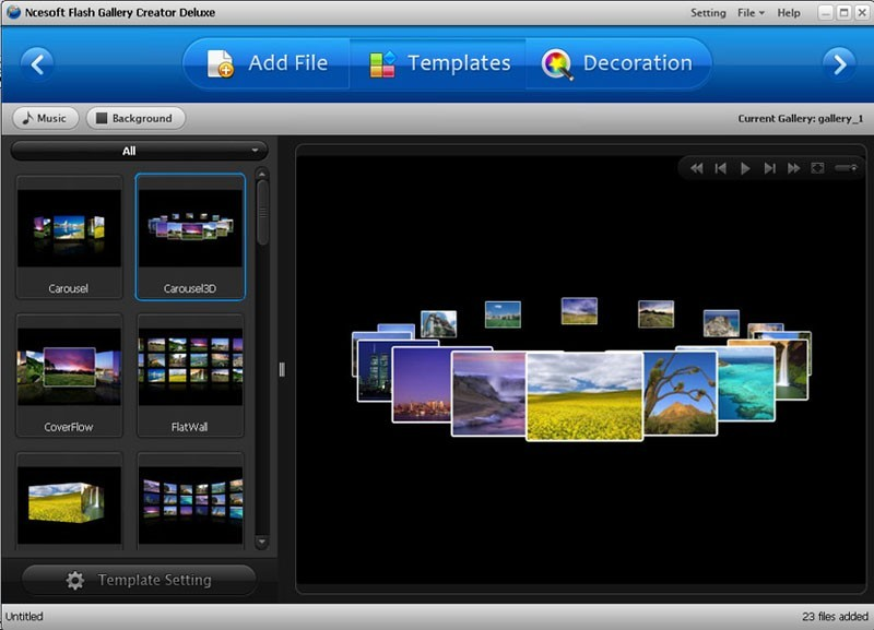 XML Flash Gallery Creator