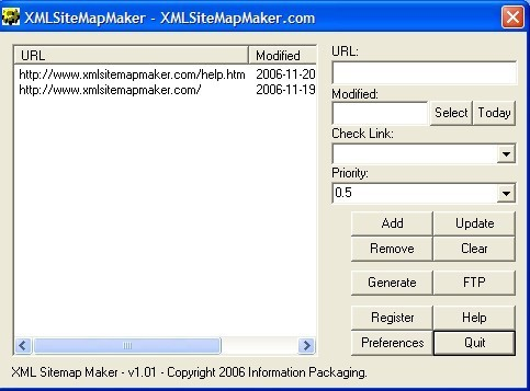 XML Sitemap Maker