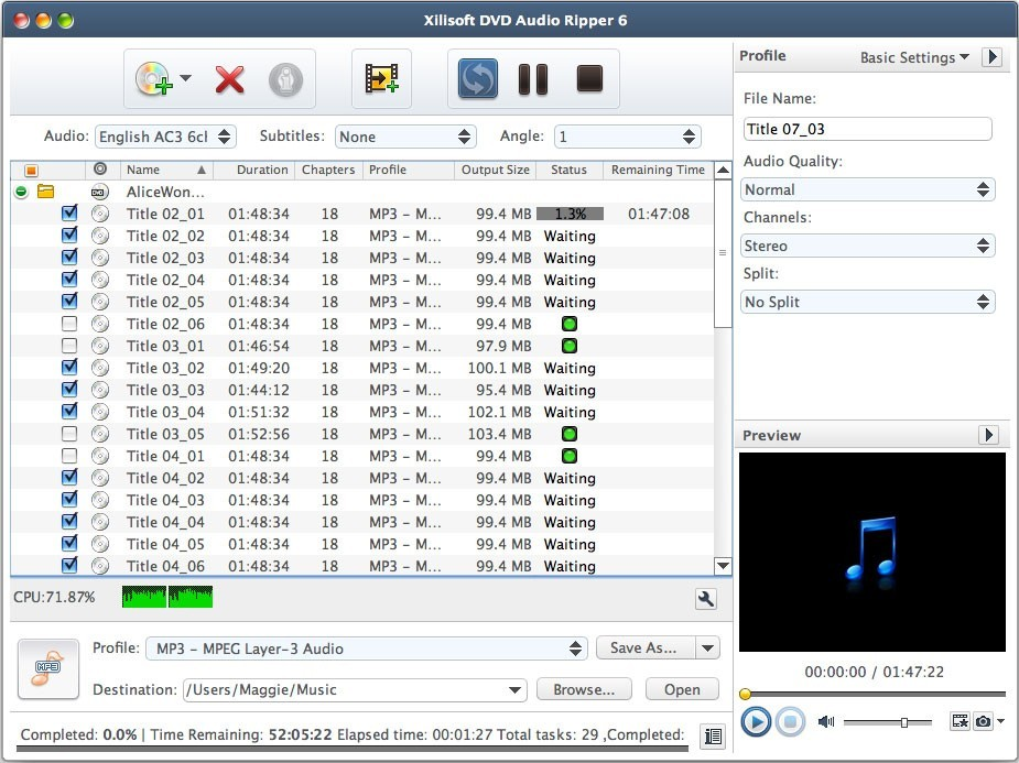 Xilisoft DVD Audio Ripper for Mac