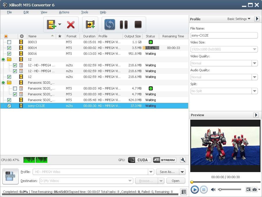 Xilisoft MTS Converter