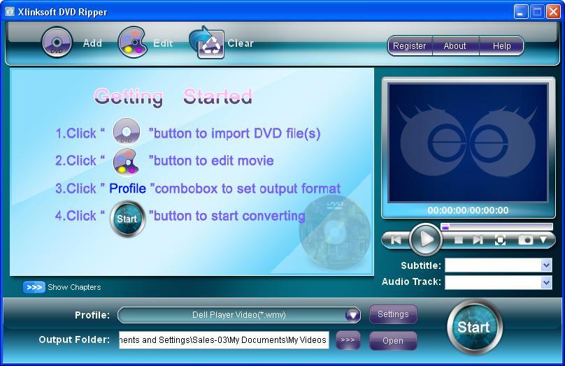Xlinksoft DVD Audio Ripper