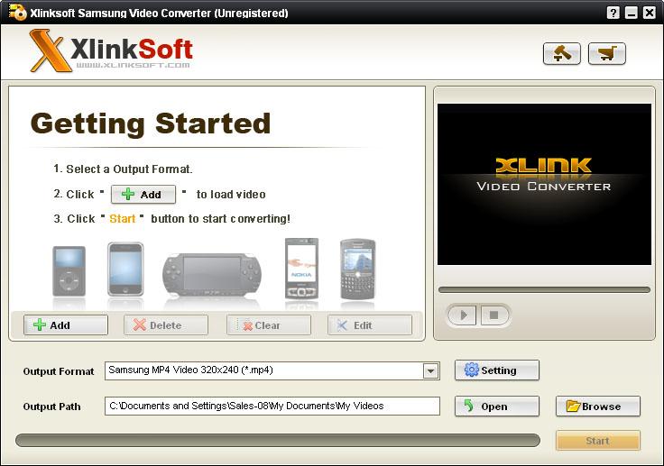 Xlinksoft Samsung Converter