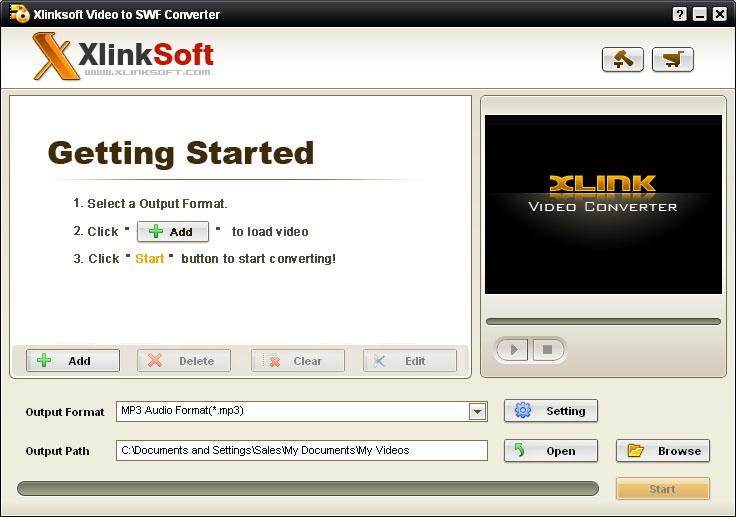 Xlinksoft Video to SWF Converter
