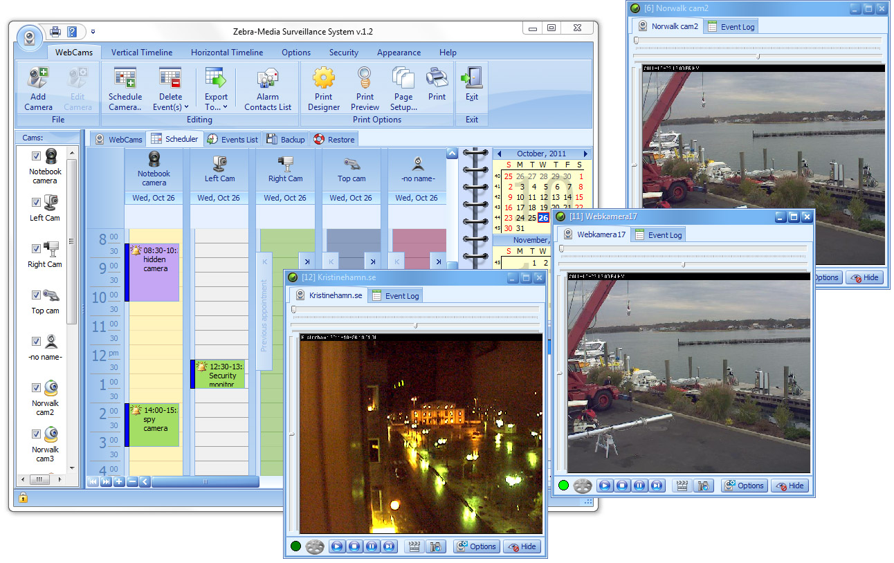 Zebra-Media Surveillance System