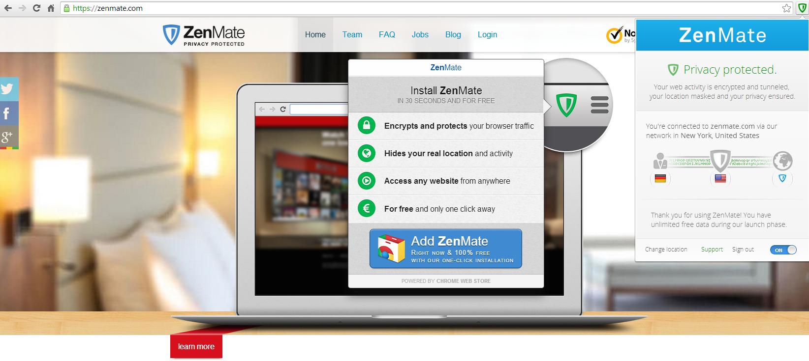 ZenMate for Firefox