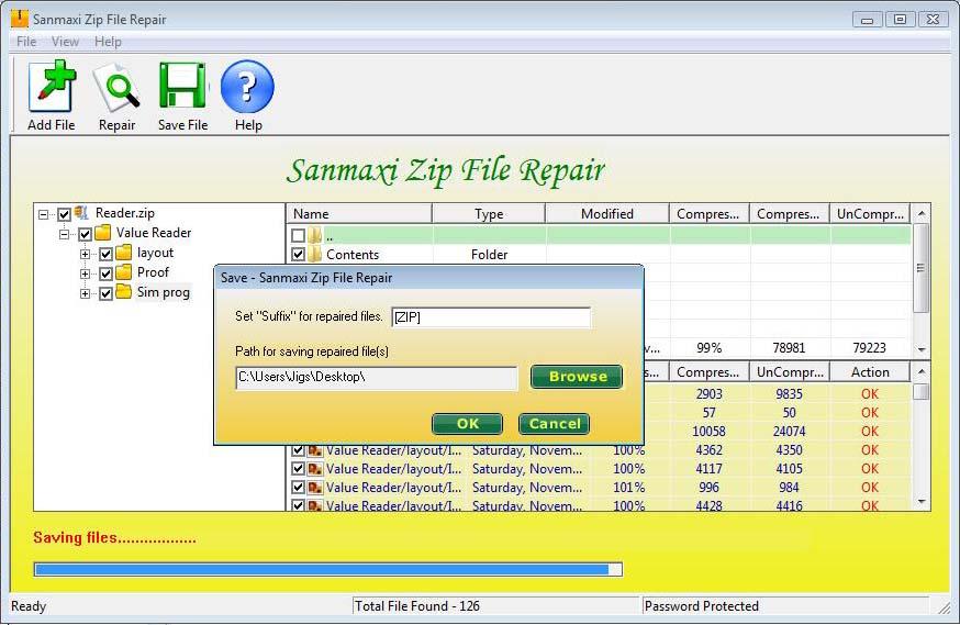 Zip Files Repair