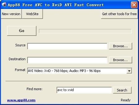 App88 Free AVC to XviD AVI Fast Convert