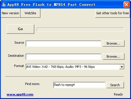 App88 Free Flash to MPEG4 Fast Convert