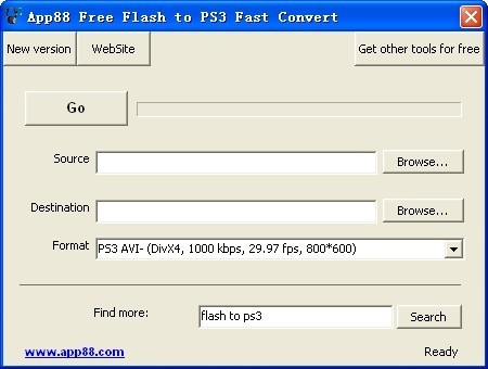 App88 Free Flash to PS3 Fast Convert