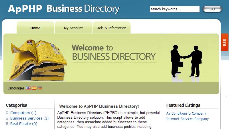 ApPHP Business Directory script
