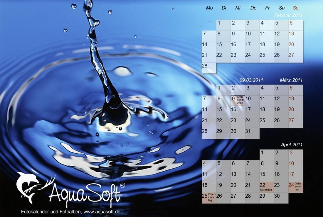 AquaSoft DesktopKalender Tropfen