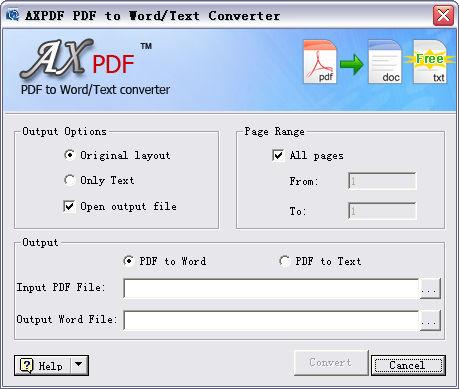 AXPDF free PDF to Word Converter