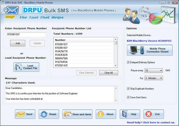 BlackBerry Mobile SMS Marketing