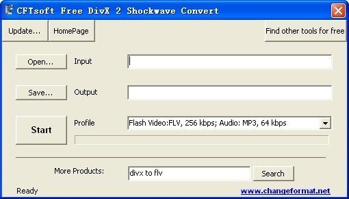 CFTsoft Free DivX 2 Shockwave Convert