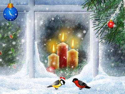 Christmas Candles Screensaver