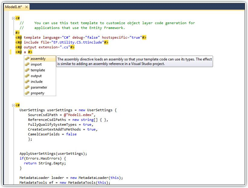 Devart T4 Editor for Visual Studio 2008