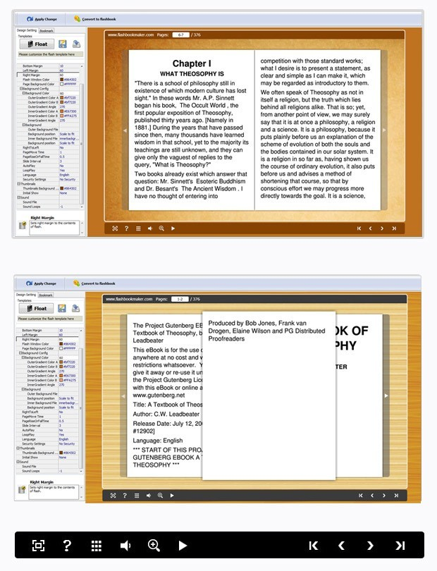 ePub to FlashBook