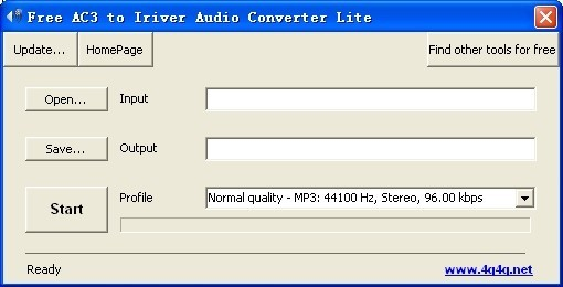 Free AC3 to Iriver Audio Converter Lite