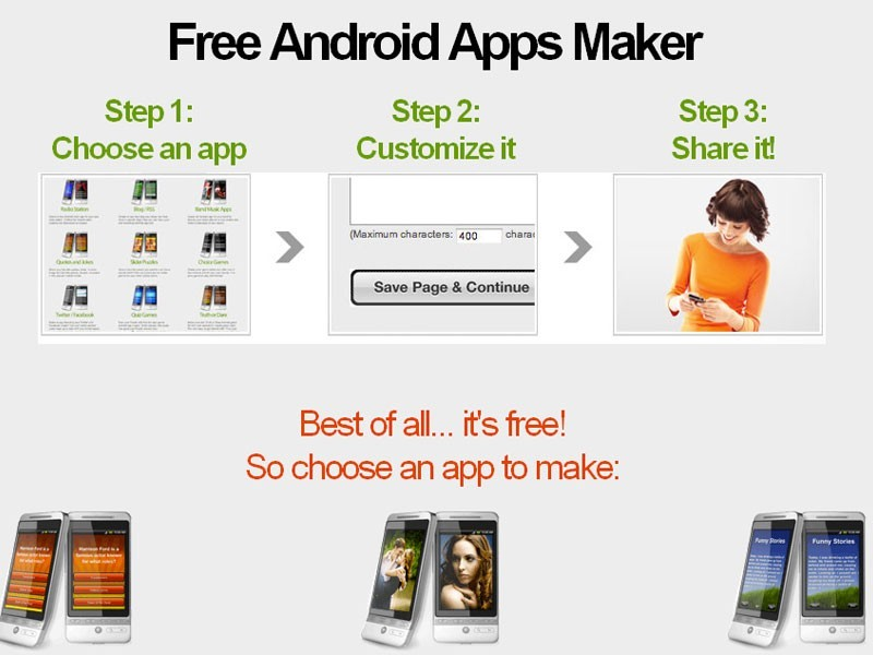 Free Android app maker