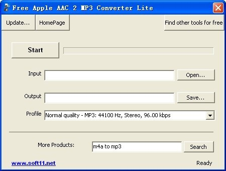 Free Apple AAC 2 MP3 Converter Lite