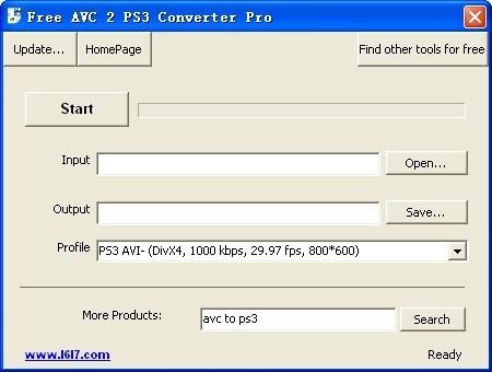 Free AVC 2 PS3 Converter Pro